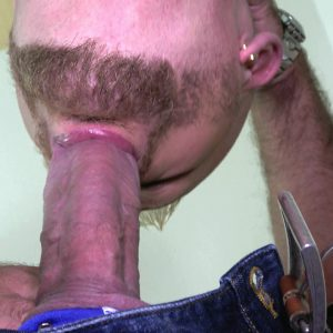 blond guy with beard sucks a thick cock